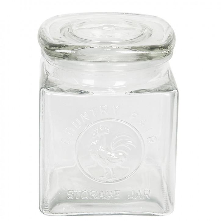 Vorratsglas mit Deckel 10x10x14 cm / 0,7L