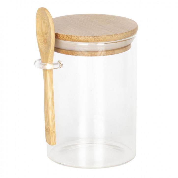 Vorratsglas mit Deckel Ø 8x12 cm