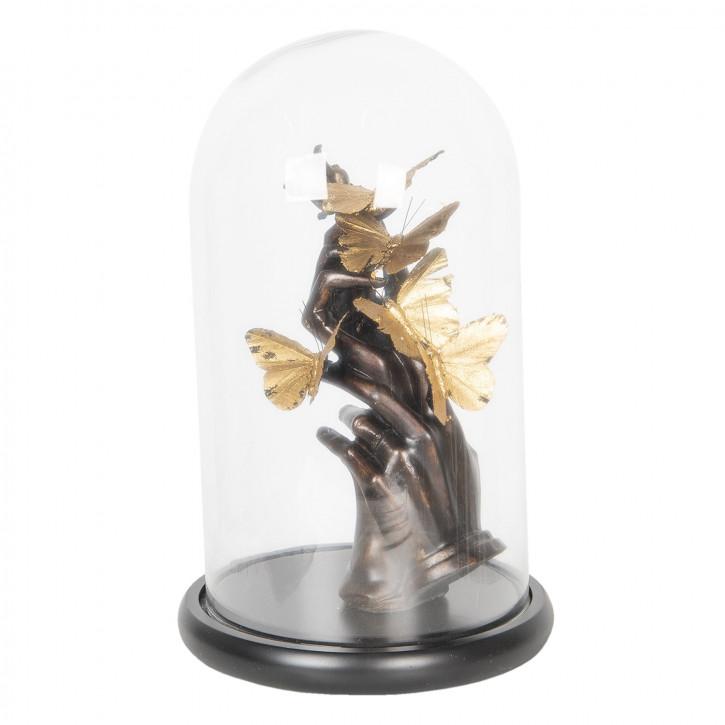 Glasglocke mit dekoration Ø 23x38 cm