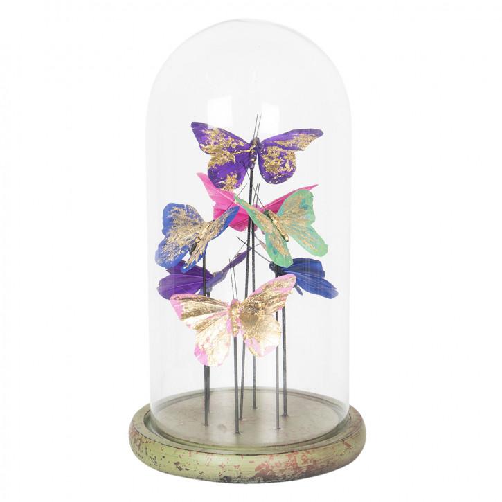 Glasglocke mit dekoration Ø 18x32 cm