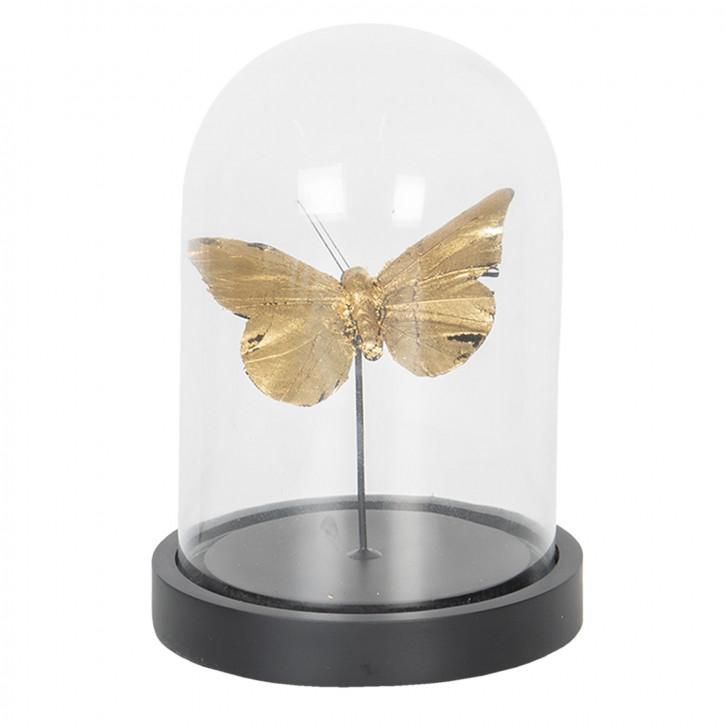Glasglocke mit dekoration Ø 11x17 cm