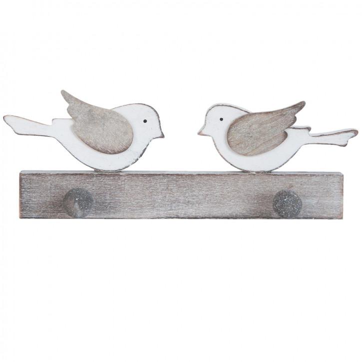 Garderobe mit 2 Haken Vögel ca. 23 x 4 x 8 cm