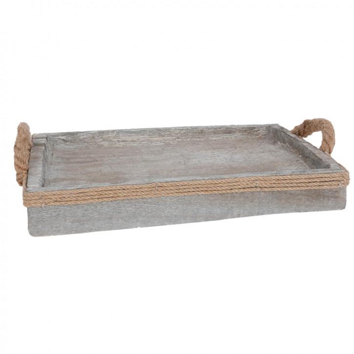Serviertablett grau ca. 44 x 34 x 5 cm