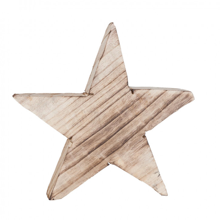Figur Stern Dekostern braun ca. 23 x 18 cm