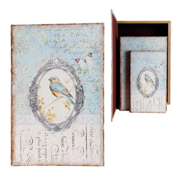 Schachtel in book shape 33x22x7/26x17x5/21x13x3 cm