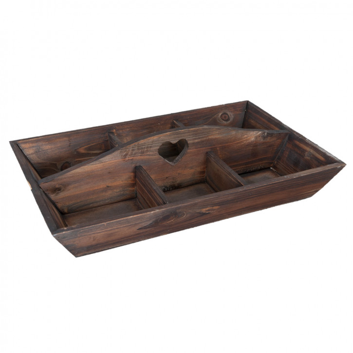 Tray with compartments 45x30x7 cm