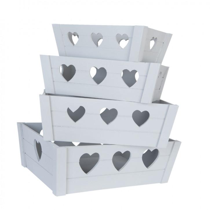 Storage boxes 42x32x14/38x28x13x/34x24x12/30x cm