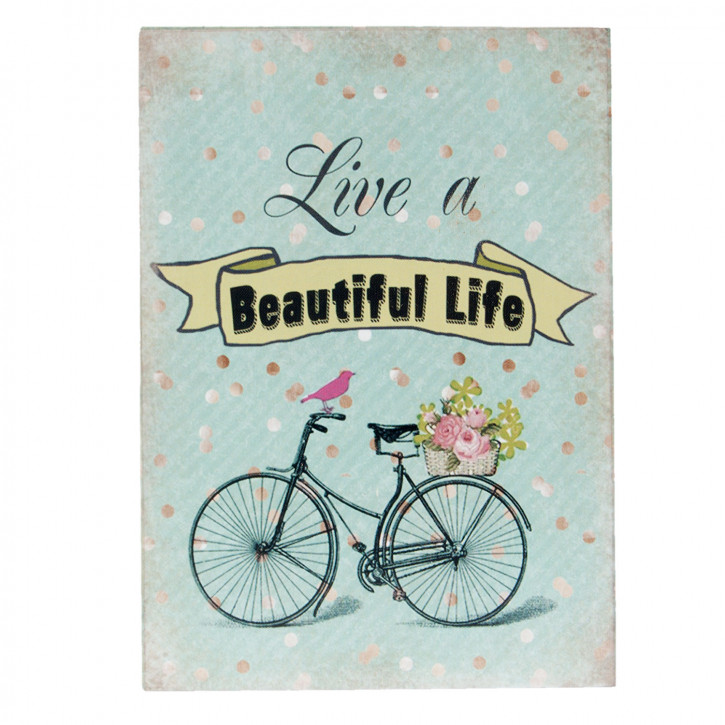 "Textschild ""Beautiful Life"" 9x2x13 cm"