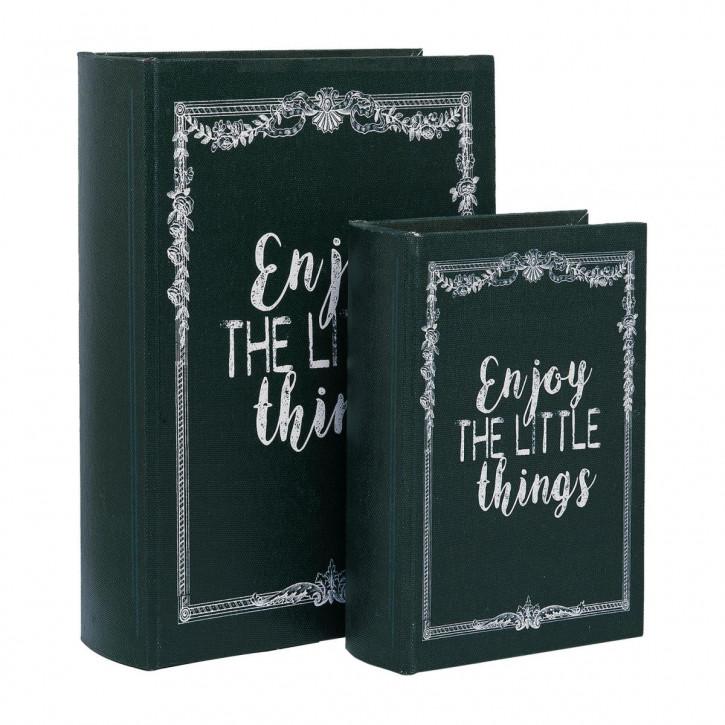 "Schachtel in Buchform ""Enjoy the little things"" 18x5x25 / 12x4x18 cm"