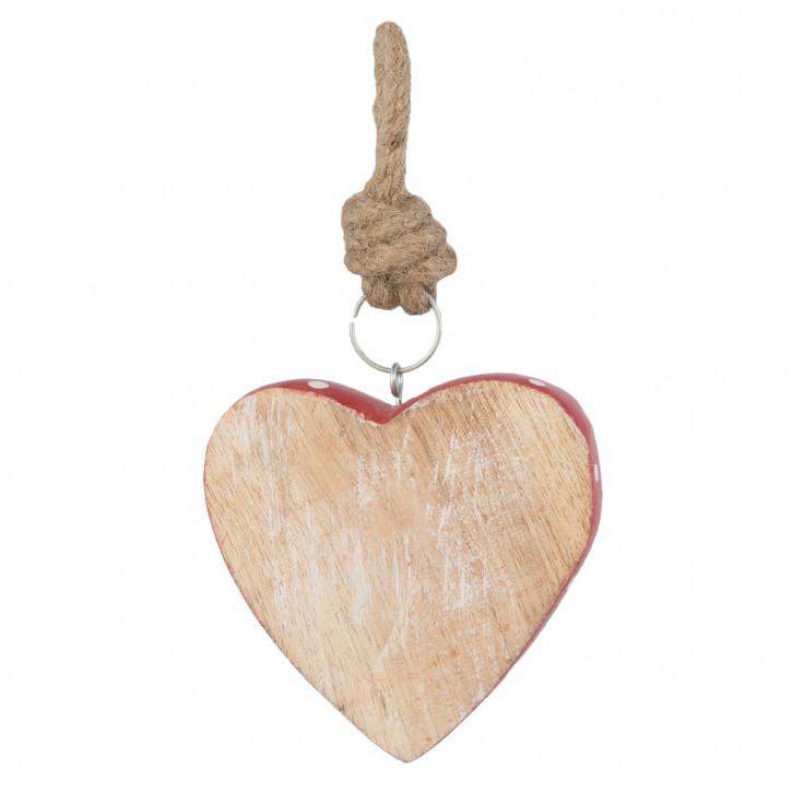 Hänger in Herzform 10x2x10 cm