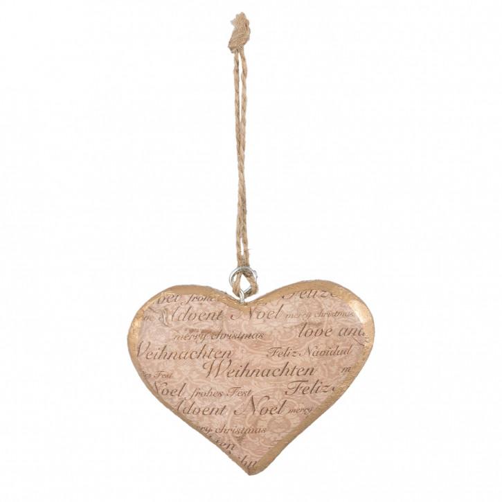Hängedekoration heart 13x2x13 cm