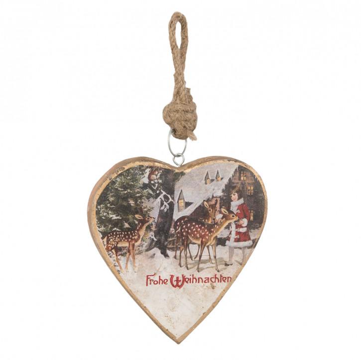 Hängedekoration heart 14x2x14 cm