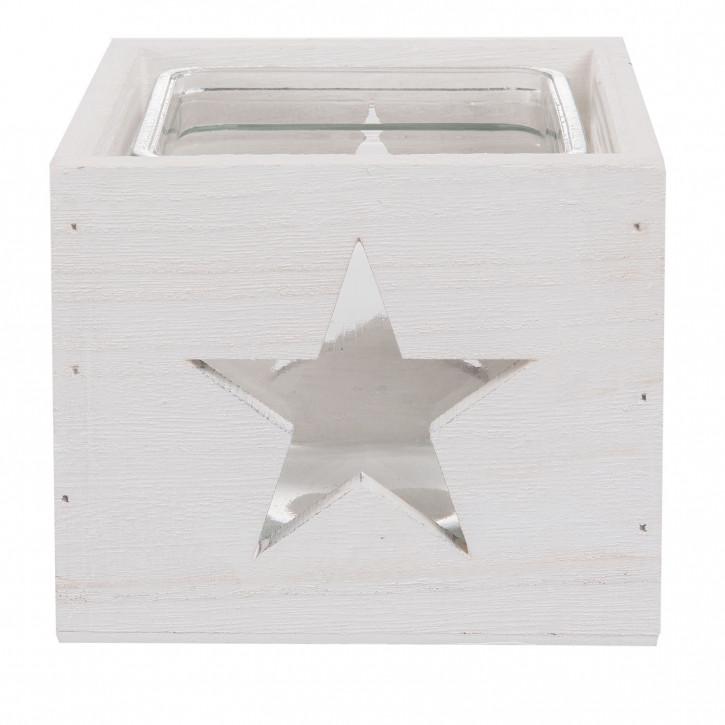 Teelichthalter 12x12x11 cm