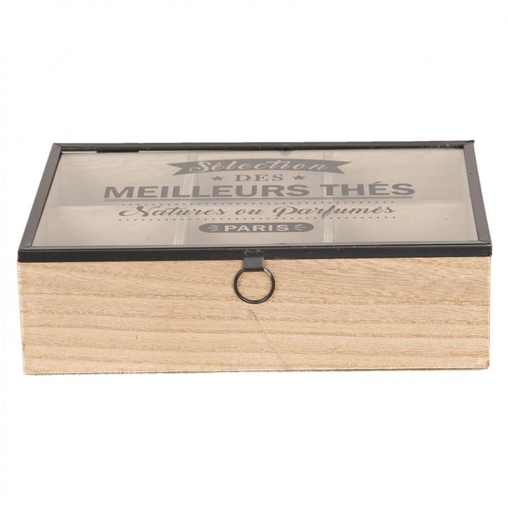 Teedose (6 Fächer) 24x16x7 cm