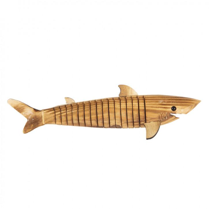 Dekoration Fisch aus holz 32x5x3 cm