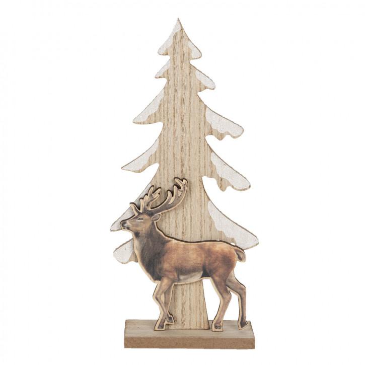 Dekoration Weihnachtsbaum 11x5x24 cm