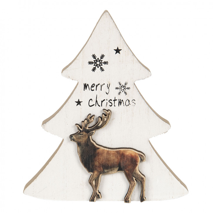 Dekoration Weihnachtsbaum 16x2x14 cm