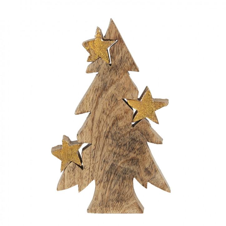 Dekoration Weihnachtsbaum 10x3x16 cm