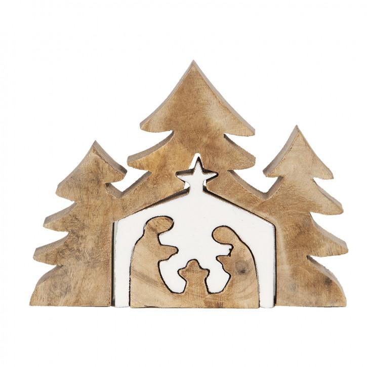 Dekoration Weihnachtsbaum 13x3x17 cm