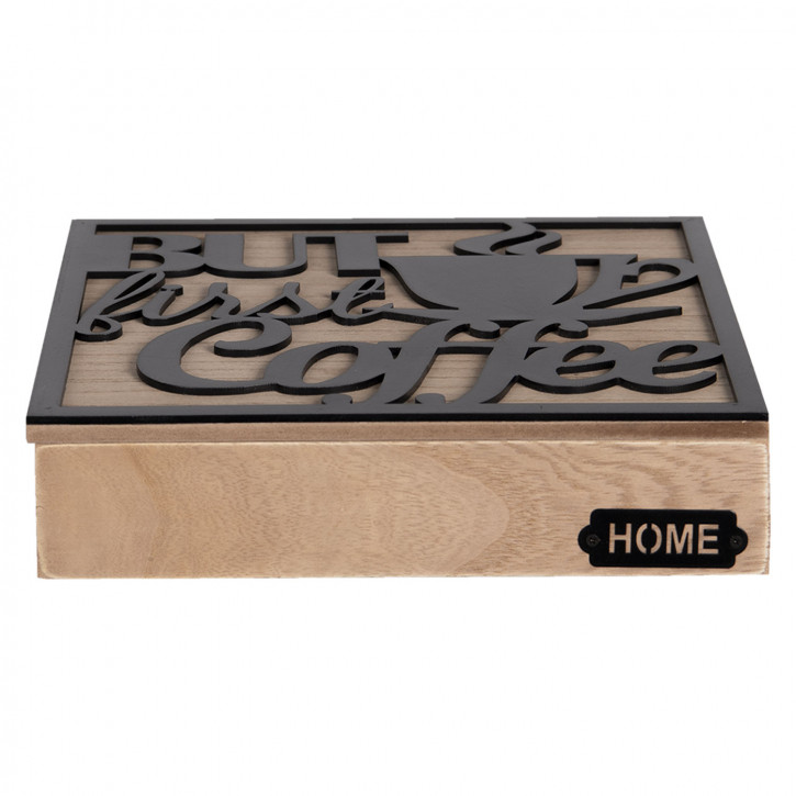 Kaffee Kapselbox 24x24x5 cm