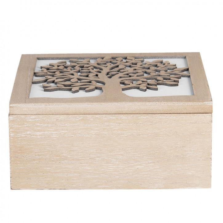 Holzkiste 20x20x9 cm