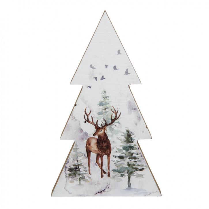 Dekoration Weihnachtsbaum 10x2x17 cm