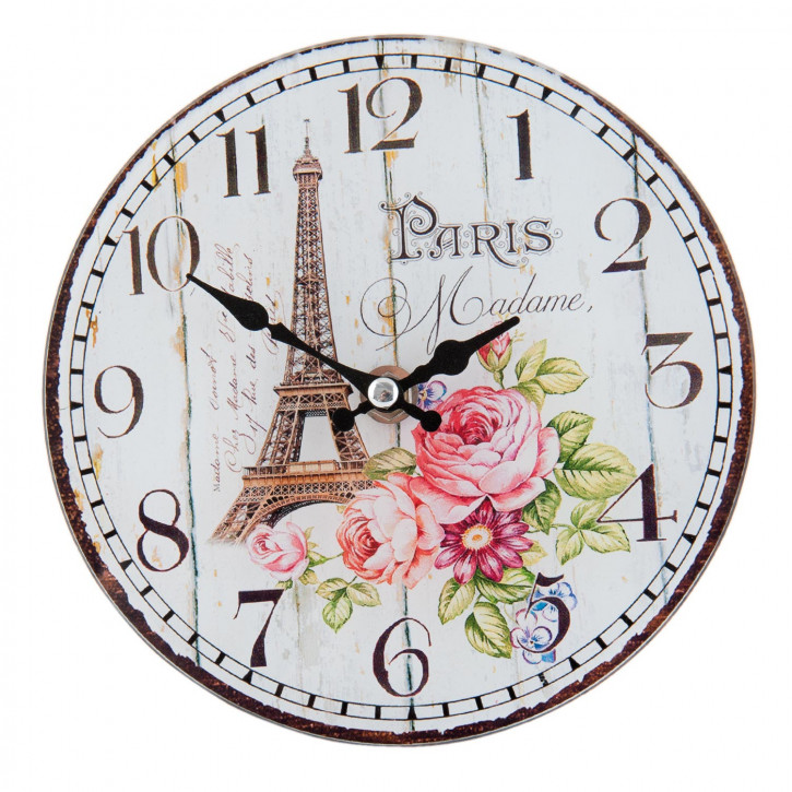 Wanduhr PARIS Madame ca. 17 x 4 x 17 cm