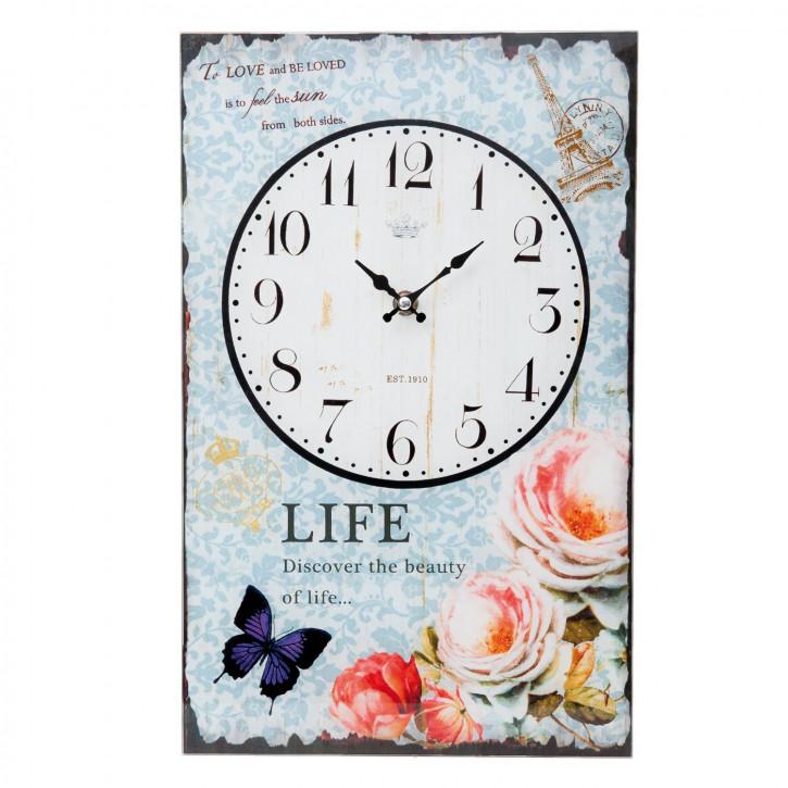 Wanduhr LIFE ca. 25 x 4 x 40 cm