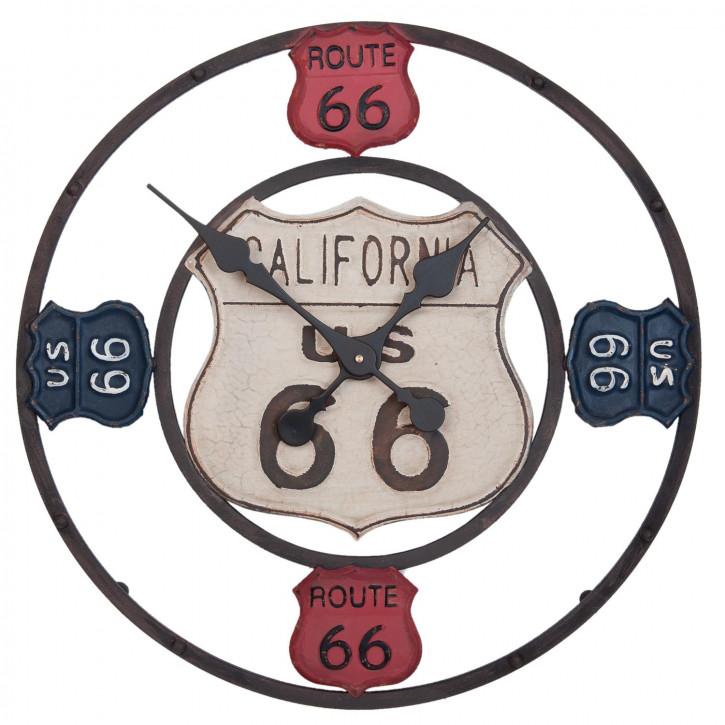 Wanduhr CALIFORNIA US 66 ca. Ø 53 x 2 cm