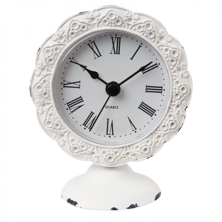 Uhr weiß 8x5x10 cm