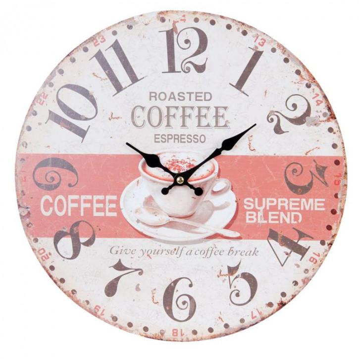 Wanduhr Roasted Coffee Espresso Ø 34x4 cm