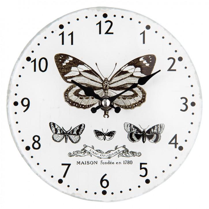 """Uhr """"Schmetterling"""" Ø 17x4 cm"""
