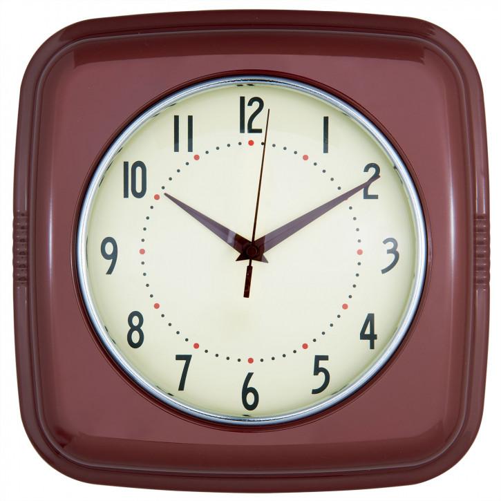 Uhr Retrouhr 28x8x28 cm