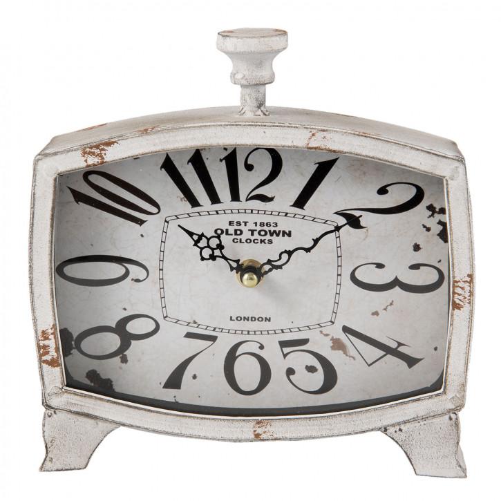 Retro Uhr weiß 21x6x20 cm / 1xAA