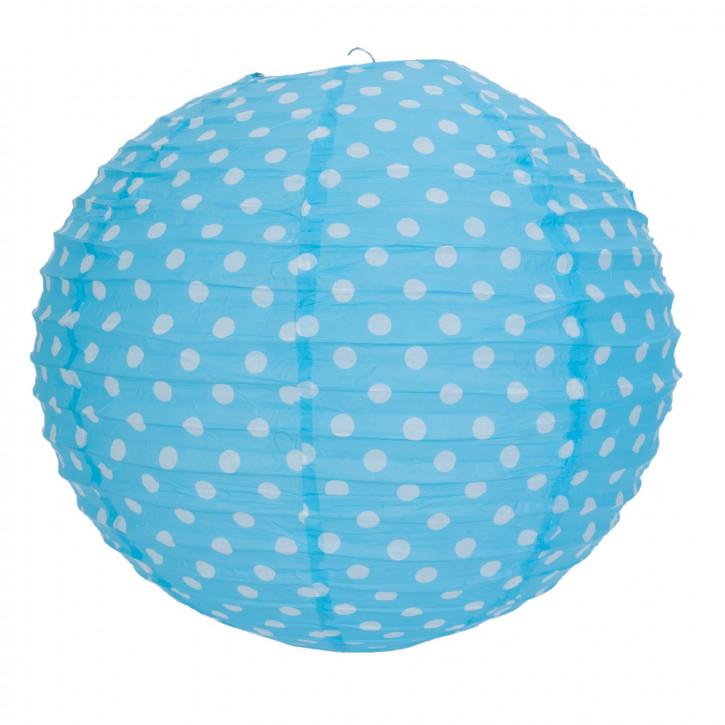 Lampenschirm hellblau mit Punkten 40 cm