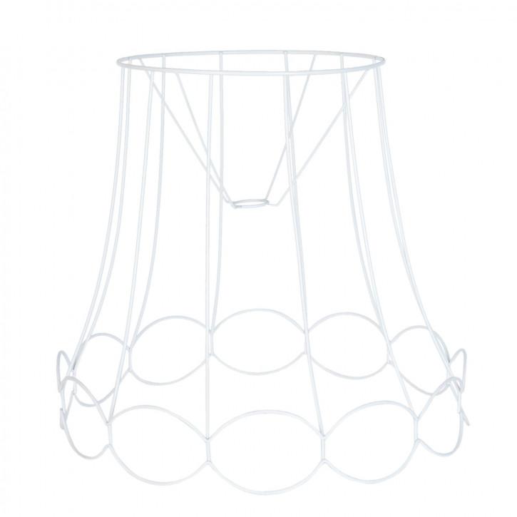 Lampenschirm aus Eisen weiß Ø 50x46 cm