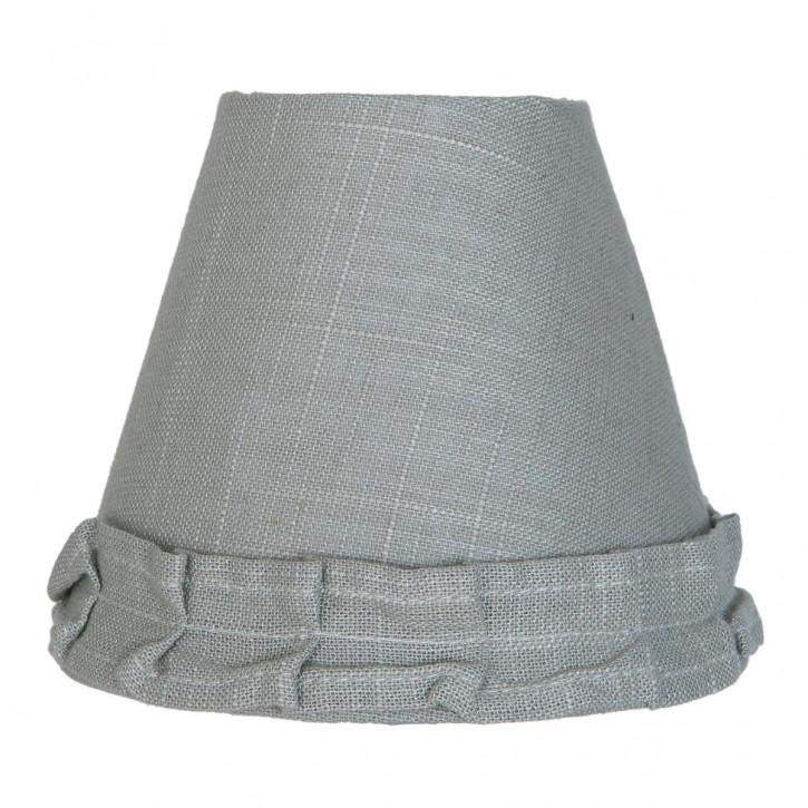 Lampenschirm grau aus Baumwolle Ø 15 cm/E27