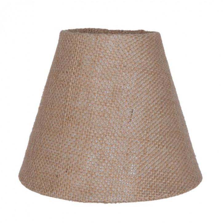 Lampenschirm braun aus Baumwolle Ø 15 cm/E27