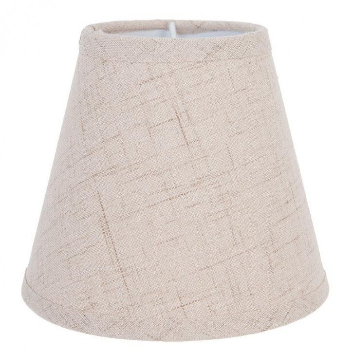 Lampenschirm beige aus Baumwolle Ø 14x12 cm