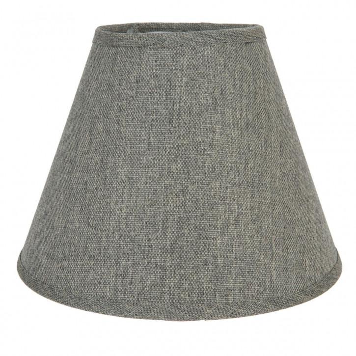 Lampenschirm grau aus Baumwolle Ø 24x18 cm