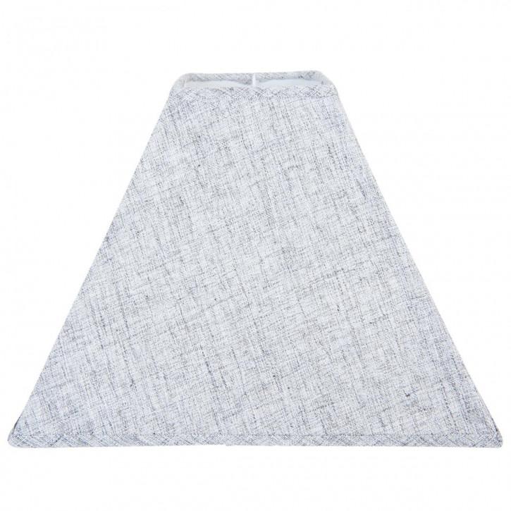 Lampenschirm grau aus Baumwolle 30x30x22 cm