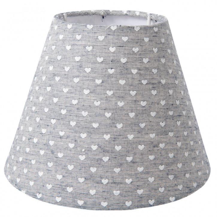 """Lampenschirm """"Herzchen"""" grau Ø 22x14 cm"""