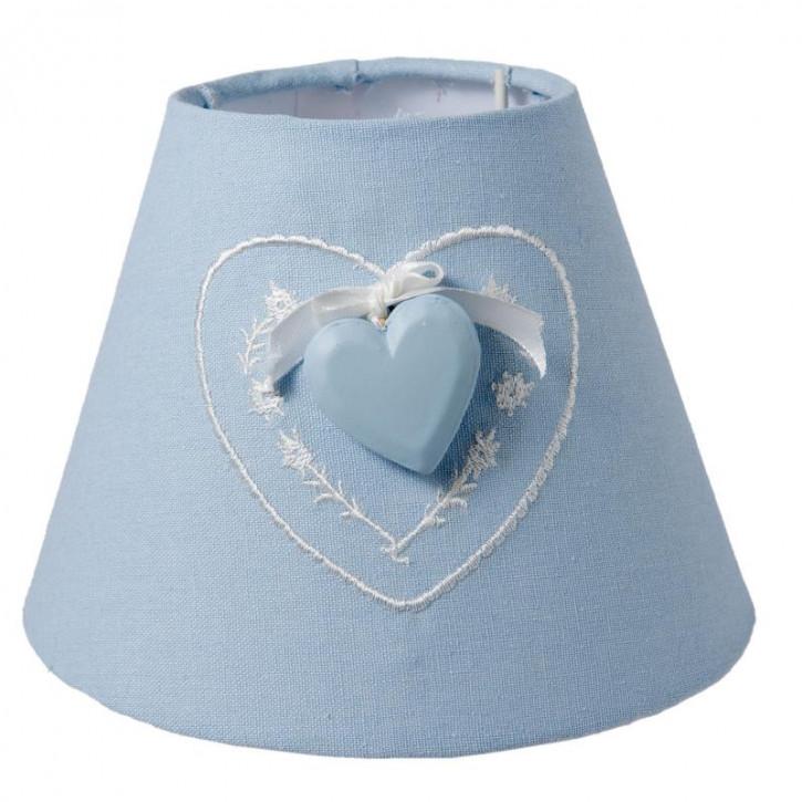 """Lampenschirm """"blaues Herz"""" Ø 17x13 cm"""
