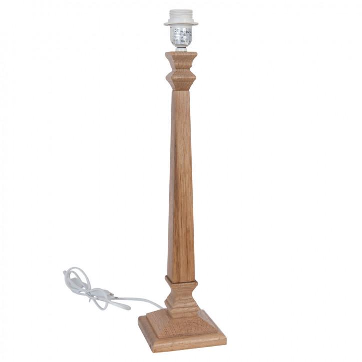 Lampenfuß aus Holz 13x13x56 cm E27/60W