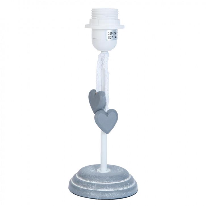 Lampenfuß Herzen grau ca. Ø 10 x 26 cm
