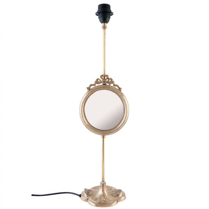 Lampenfuß mit Spiegel 17x15x59 cm E27 Max. w