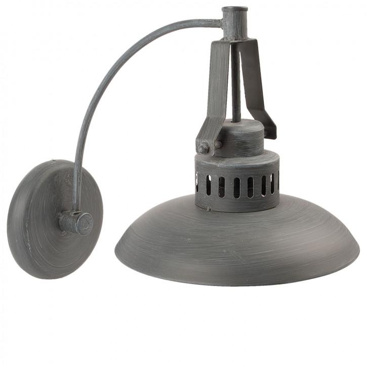 Wandlampe Retro grau 26x41x35 cm E27 / 60W