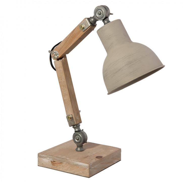 Tischlampe Schreibtischlampe Natur 15x30x40 cm E27 / 60W