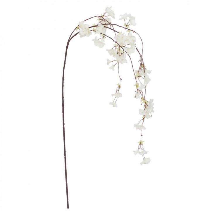 Kunstblume Kirschblüte Zweig weiß
