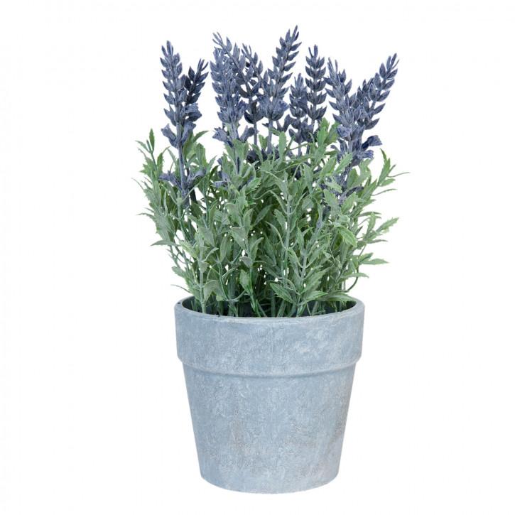 Kunstblume Lavendel im Topf 25 cm